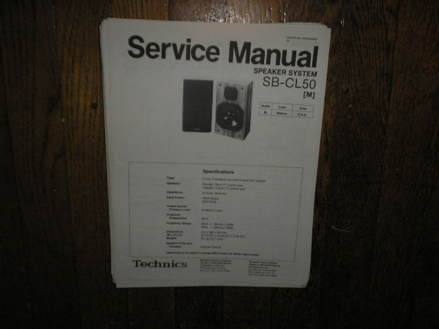 SB-CL50 Speaker System Service Manual