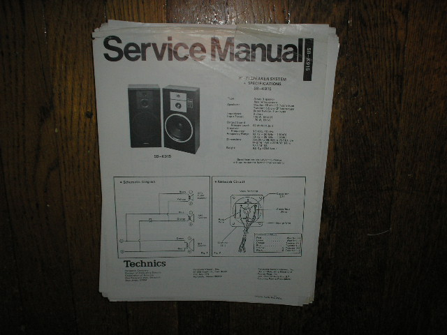 SB-K915 Speaker System Service Manual