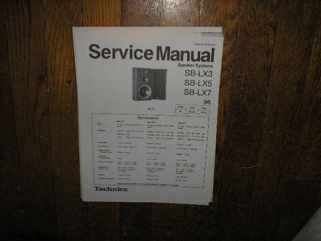 SB-LX3 SB-LX5 SB-LX7 Speaker System Service Manual
