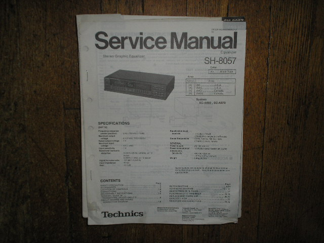 SH-8057 Equalizer Service Manual