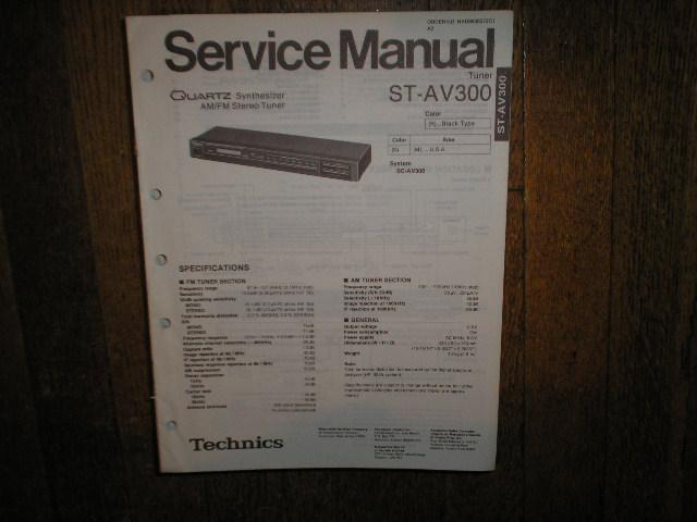 ST-AV300 Tuner Service Manual