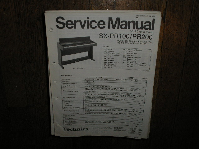 SX-PR100 SX-PR200 PCM Digital Piano Service Manual