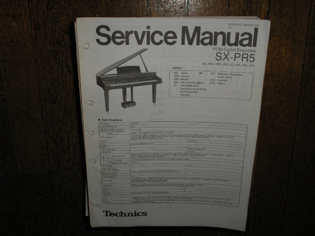 SX-PR5 PCM Digital Ensemble Service Manual