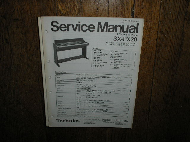 SX-PX20  PCM Digital Piano Service Manual