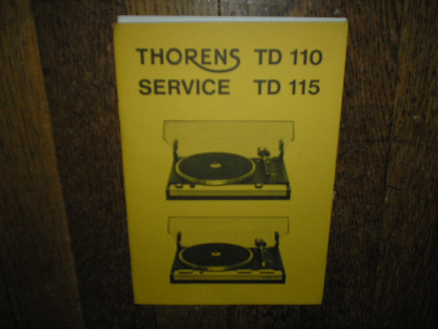 TD 110 TD 115 Turntable Service Manual
