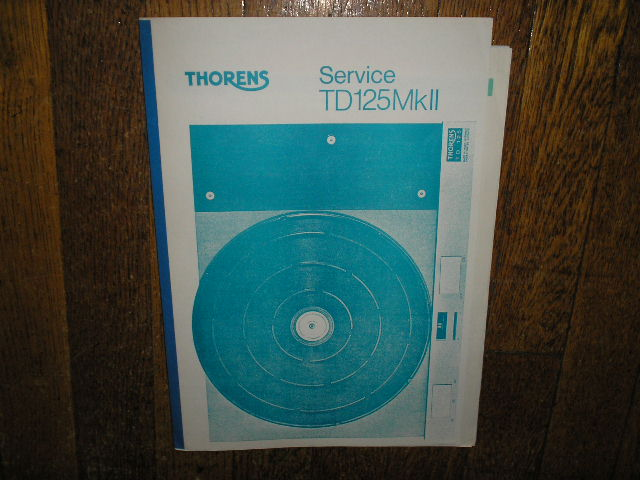 TD 125 Mk II 2 Turntable Service Manual