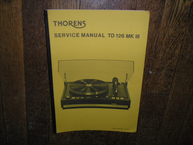TD 126 Mk III 3 Turntable Service Manual