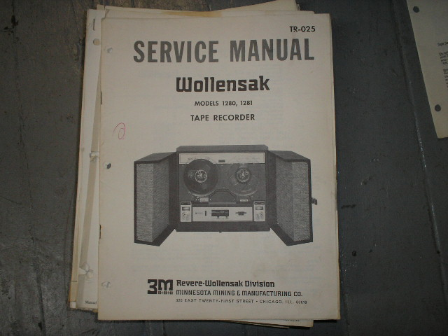 1280 1281 Tape Recorder Service Manual