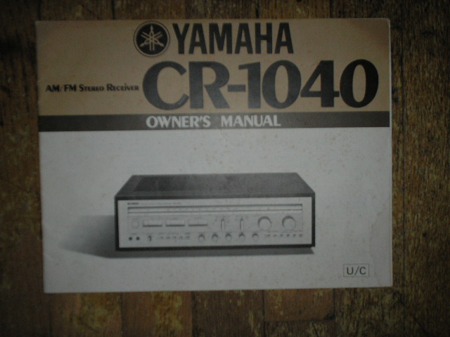 CR-1040 Receiver Owners Manual