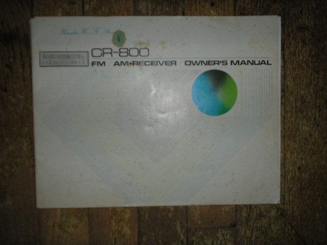 CR-800 Receiver Owners Manual