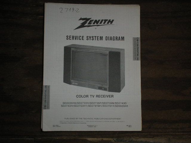 SD1327W3 SD1327Y SD1327Y3 SD3337W TV Service Diagram CM-139 B-1 K L ChassisTelevision Service Information With Schematics