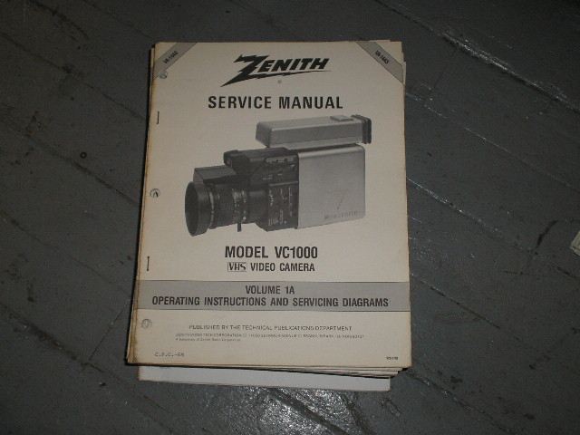VC1000 Camcorder Schematics Manual