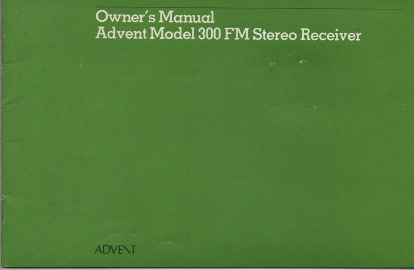 300 FM Receiver Owners Manual