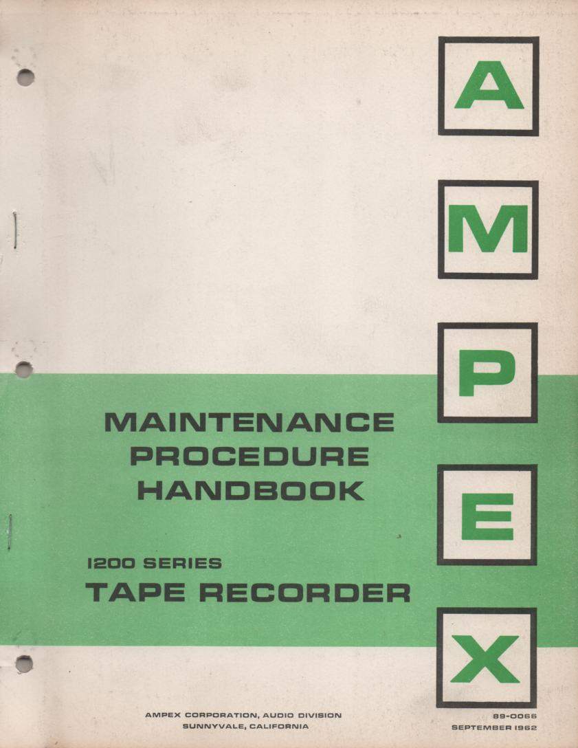 1260 Reel to Reel Service Manual