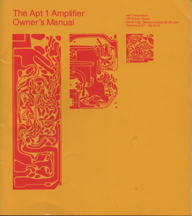 Model 1 Amplifier Service Manual
