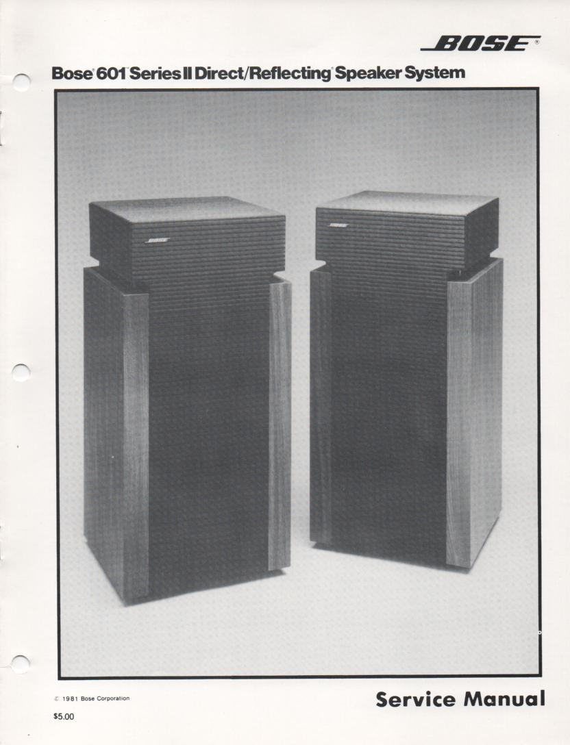 601 Series II Direct Reflecting Speaker System Service Manual