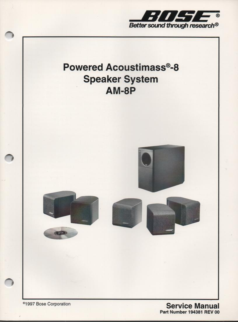 AM-8 Acoustimass-8 Powered Speaker System Service Manual. 194381 1997