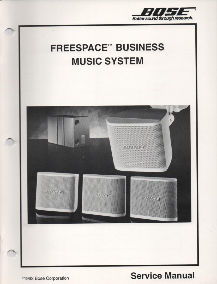 Freespace Business Music System Service Manual..   comes with 2 large foldouts.   1 Schematic and the foil side diagram..
