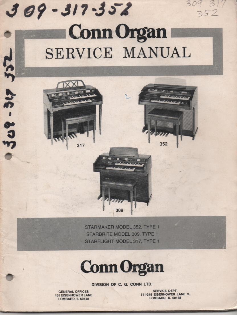 309 317 352 Starbrite Type-1 Organ Service Manual
