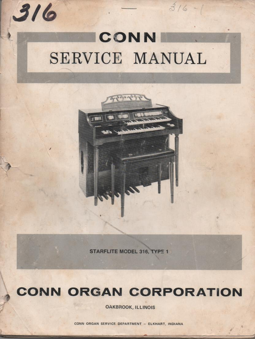 316 Starflite Type-1 Organ Service Manual