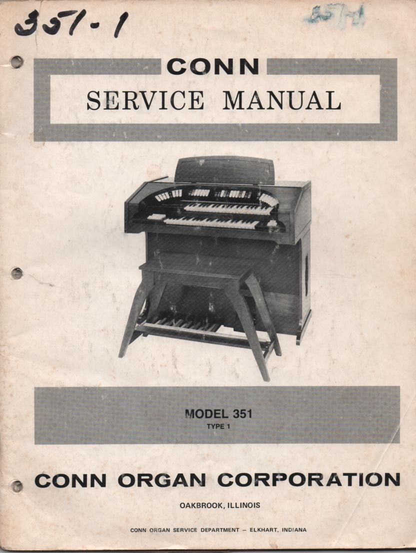 351 Type-1 Organ Service Manual