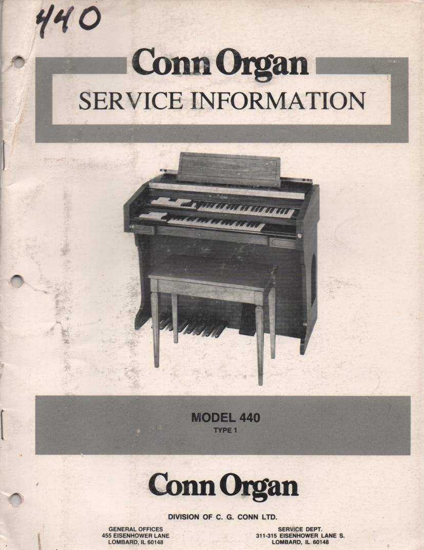 440 Type 1 Organ Service Manual