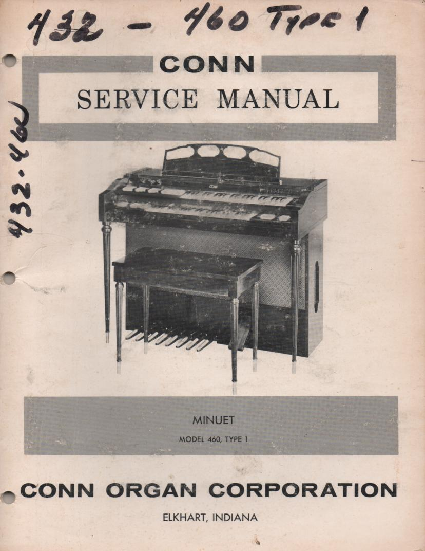 460 Type 1 Minuet Organ Service Manual