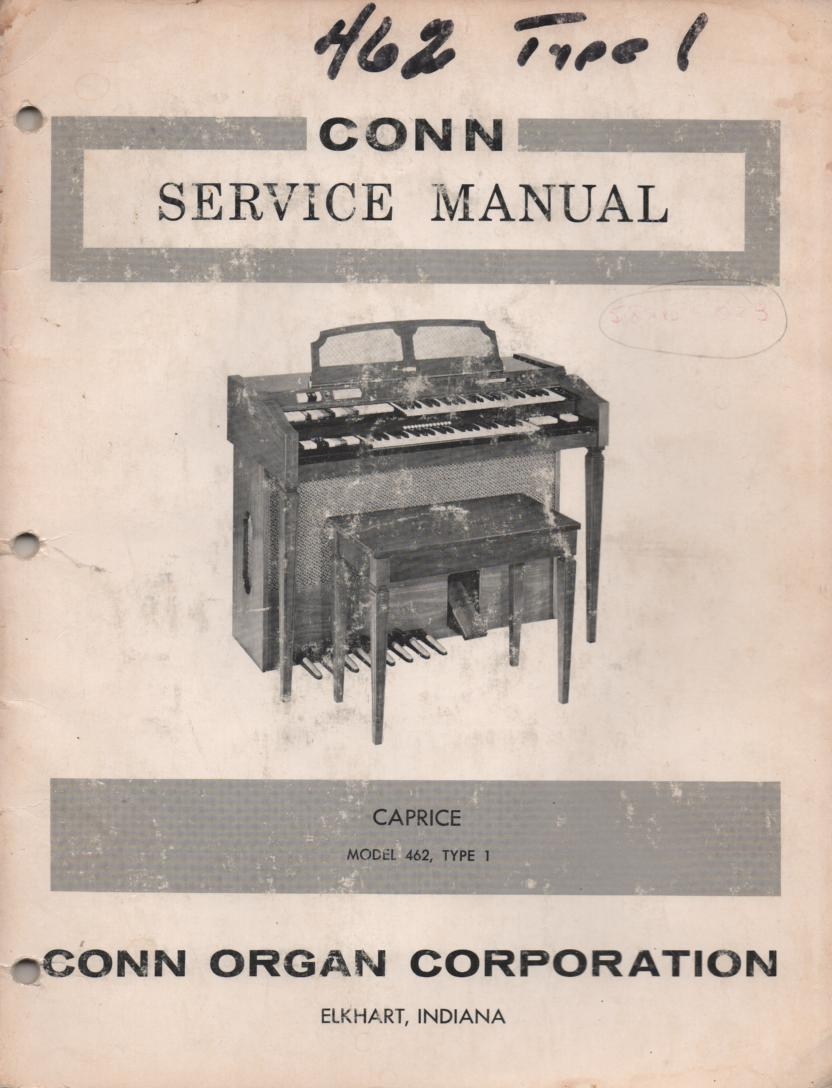 462 Type 1 Caprice Organ Service Manual