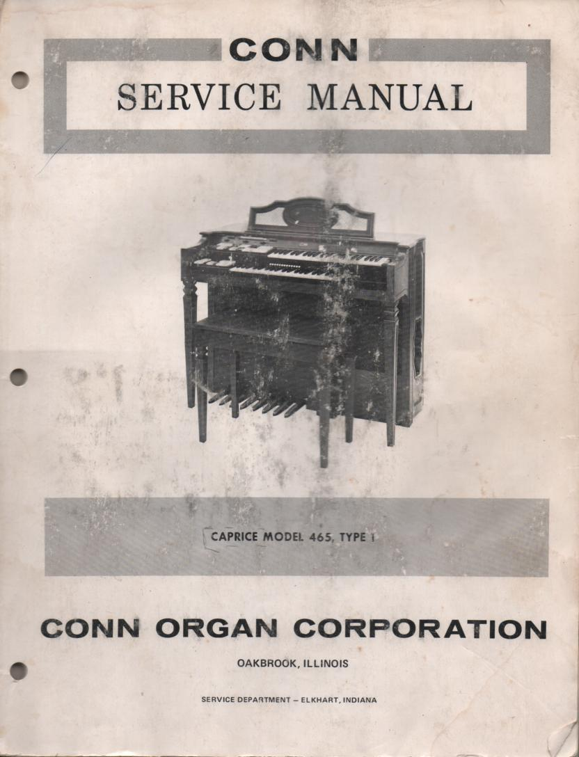 465 Caprice Organ Type 1 Service Manual