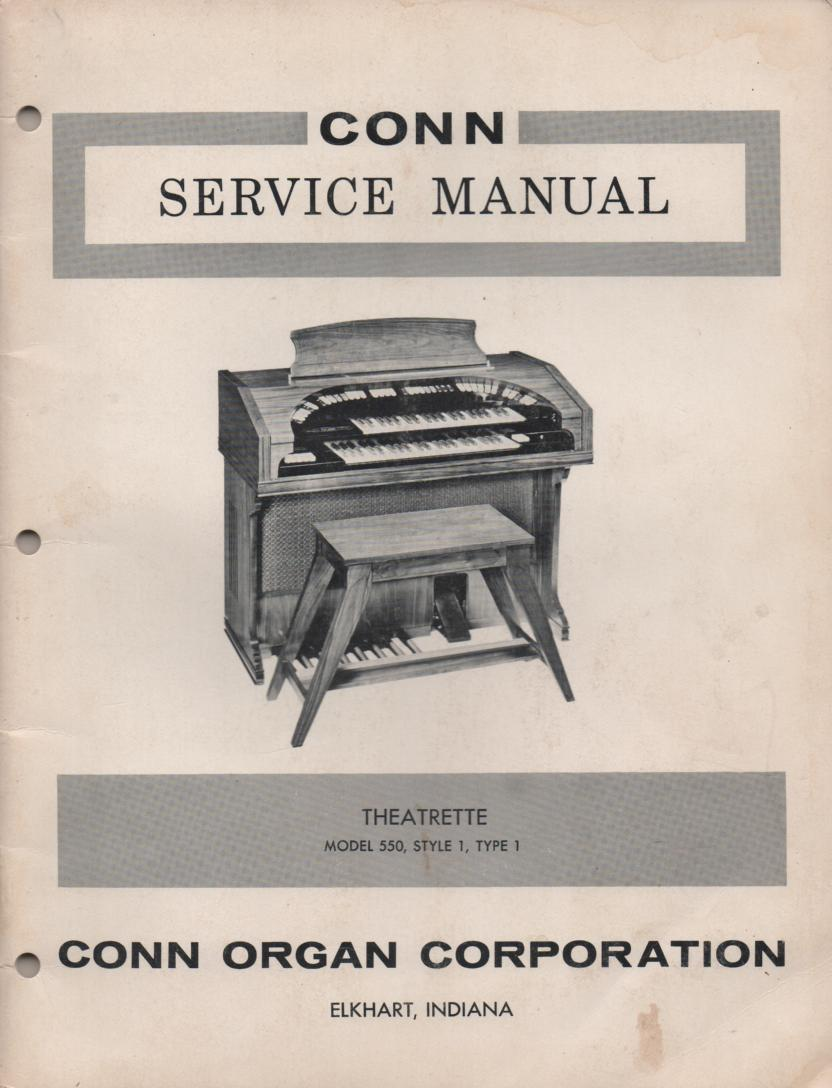 550 Organ Type 1 Service Manual