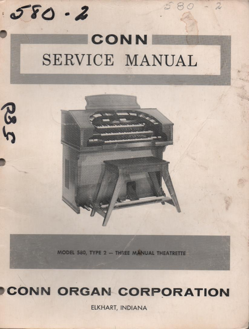 580 Three Manual Theatrette Type 2 Organ Service Manual