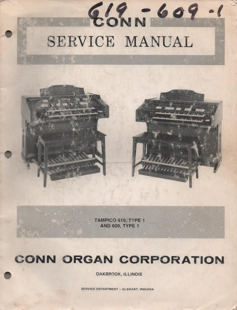 609 Type 1 619 Tampico Type 1 Organ Service Manual