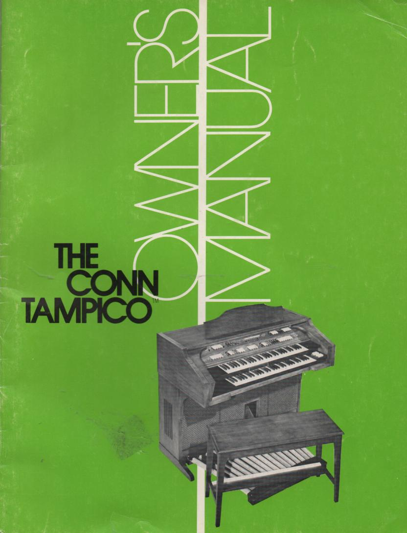 619 Tampico Organ Owners Manual