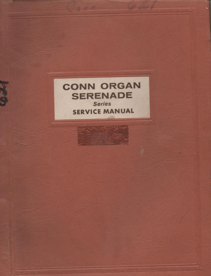 621 Serenade Organ Service Manual