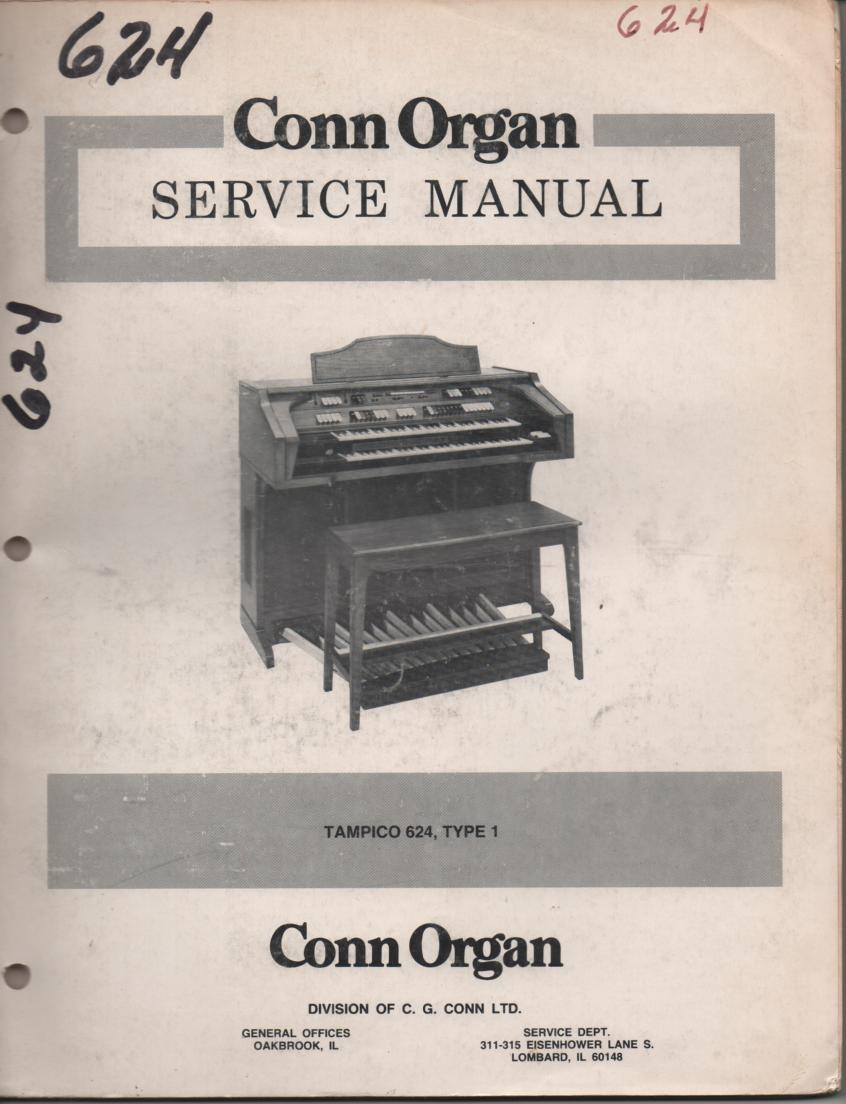 624 Tampico Type 1 Organ Service Manual