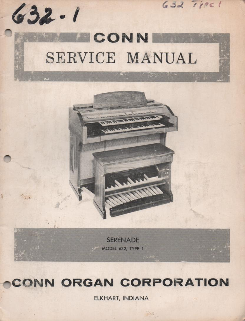 632 Serenade Organ Service Manual