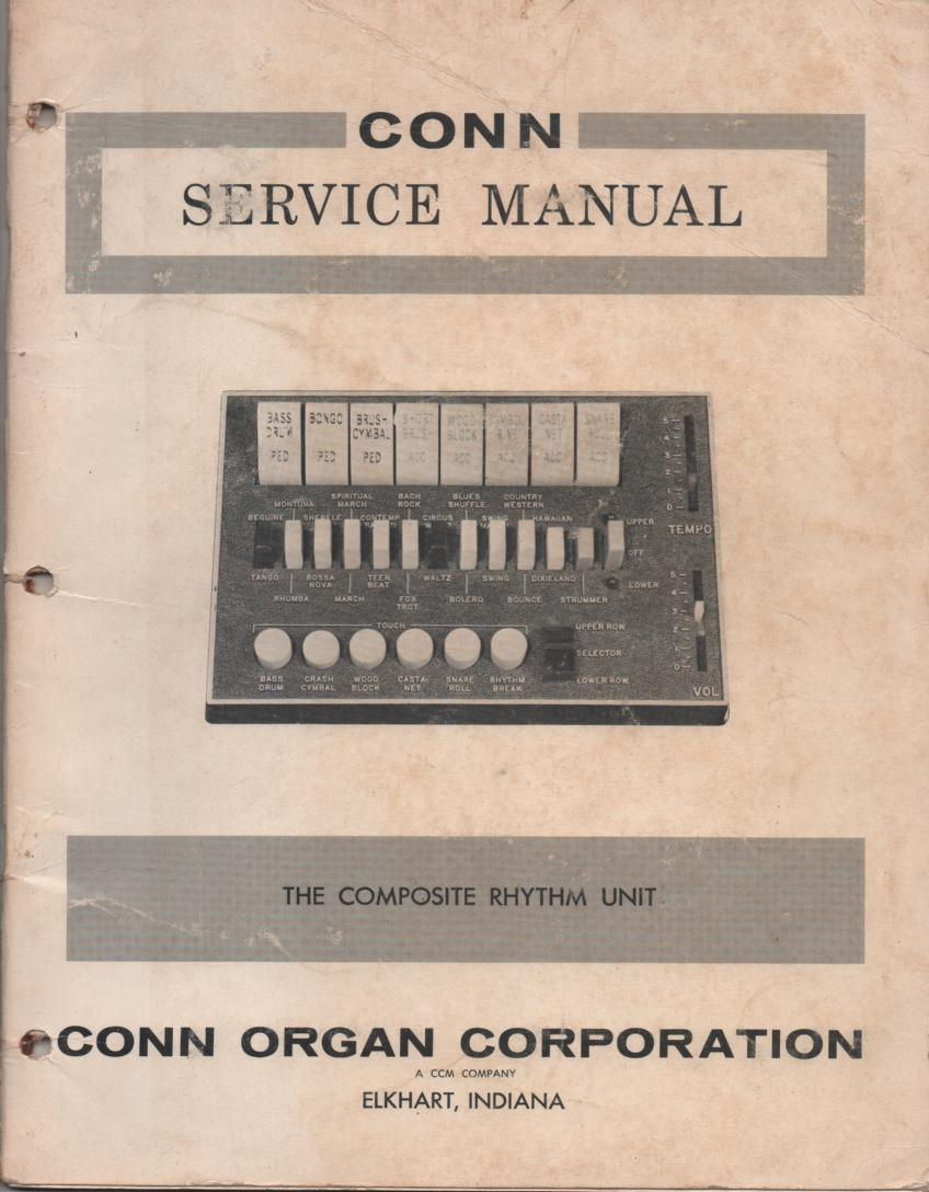 175 Type 2 Style 1 2 3 Organ Service Manual. Electric Band Composite Rhythm Unit..