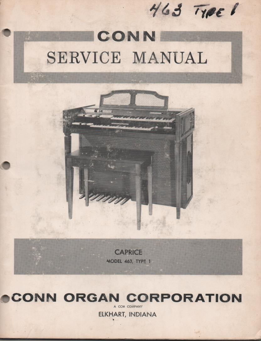 463 Caprice Organ Type 1 Service Manual