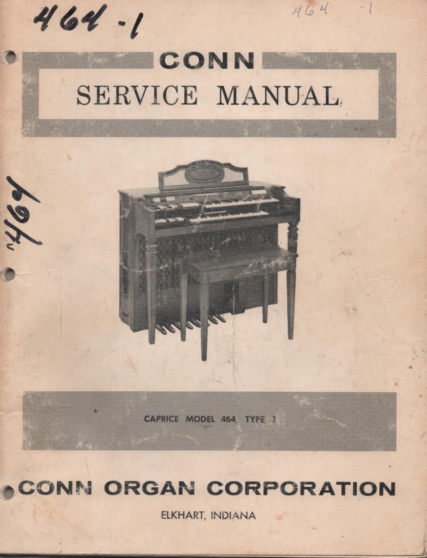 464 Caprice Organ Type 1 Service Manual