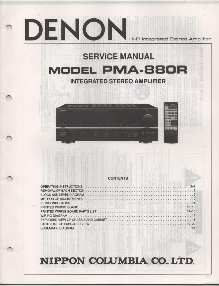 PMA-880R Amplifier Service Manual