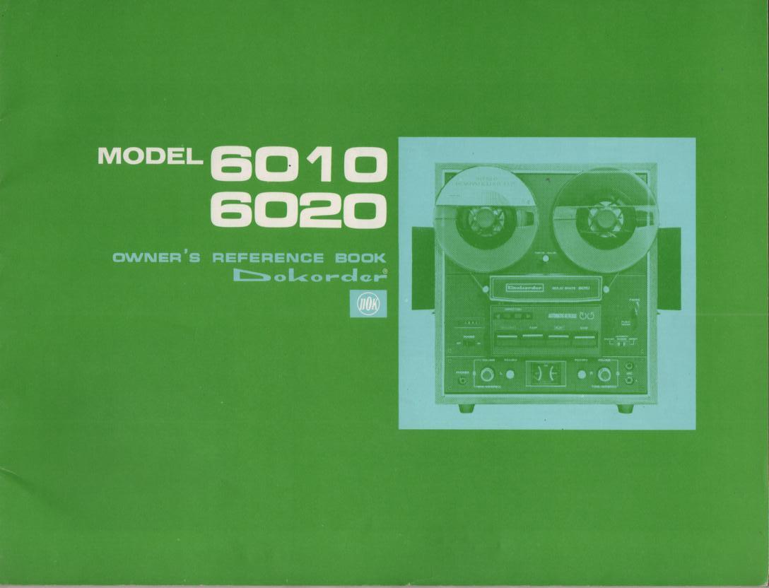 6010 6020 Reel to Reel Owners Manual