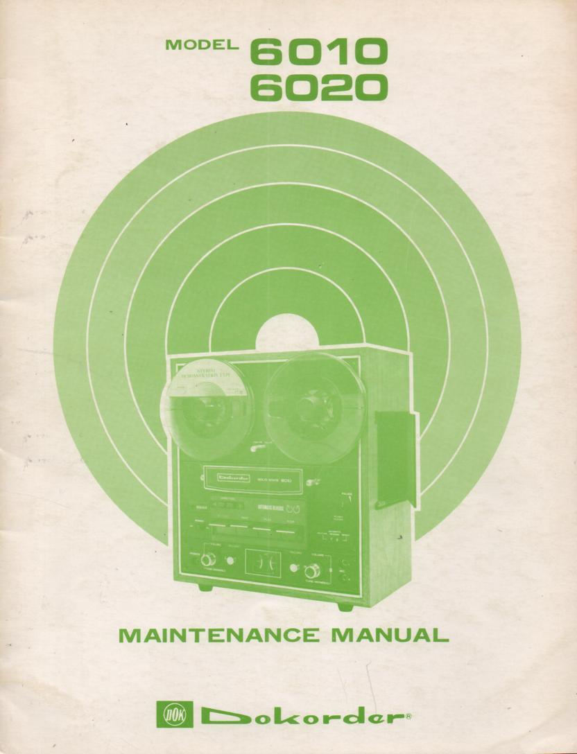 6010 6020 Reel to Reel Service Manual