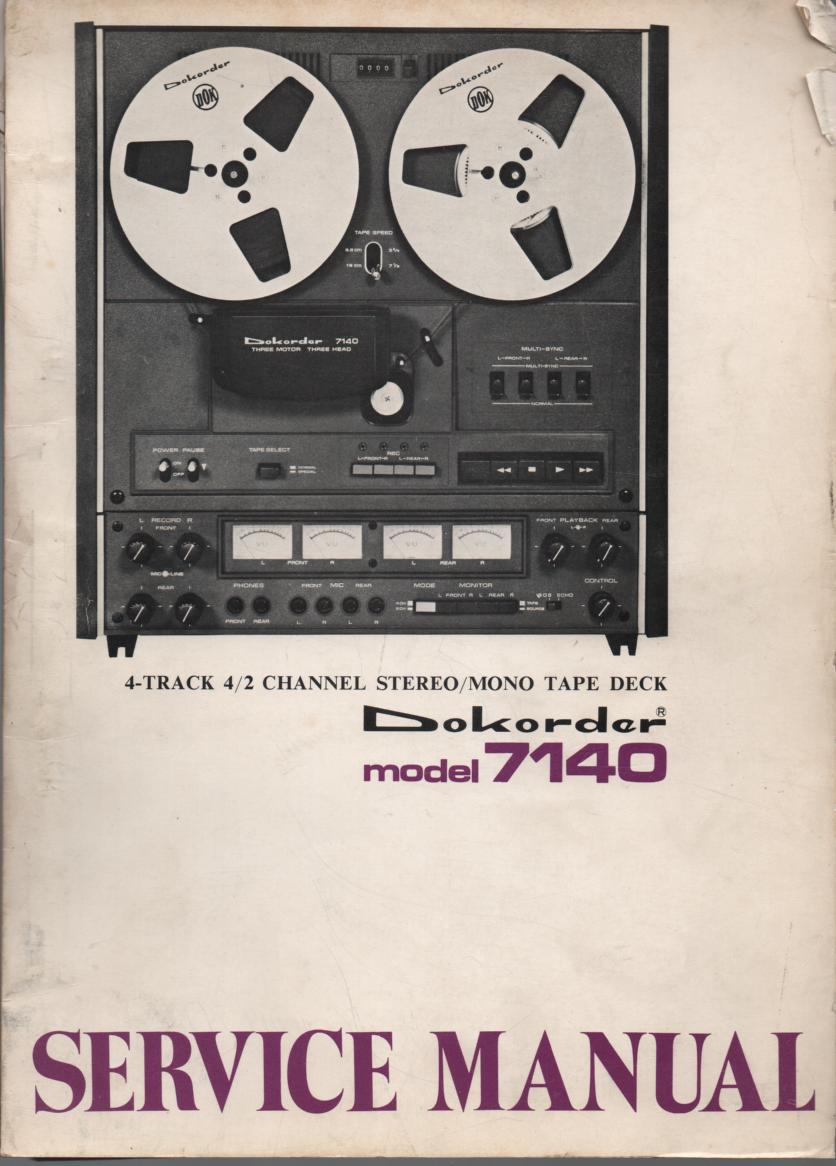7140 Reel to Reel Service Manual
