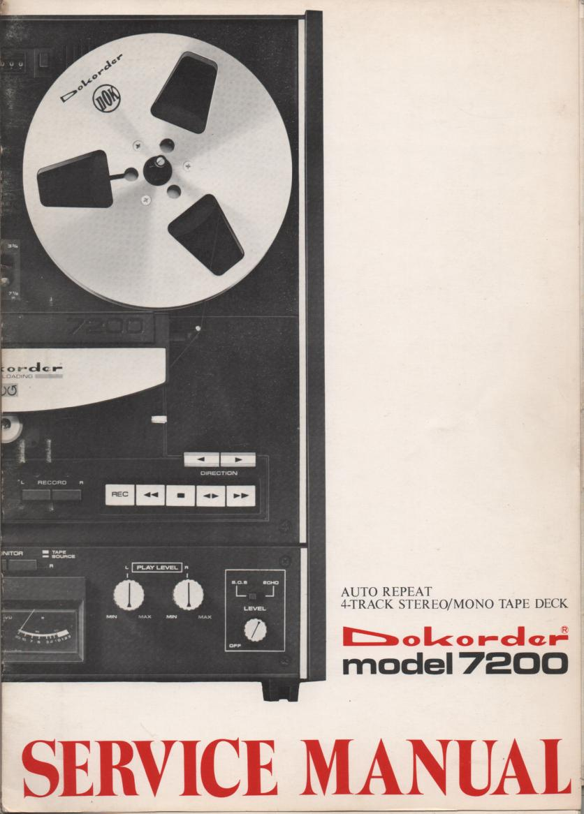7200 Reel to Reel Service Manual