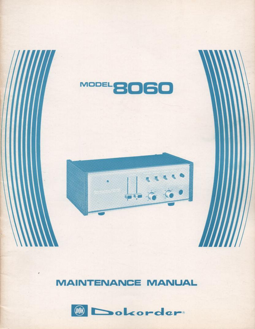 8060 Amplifier Service Manual