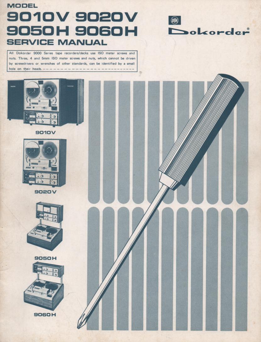 9010V 9020V 9050H 9060H Reel to Reel System Service Manual