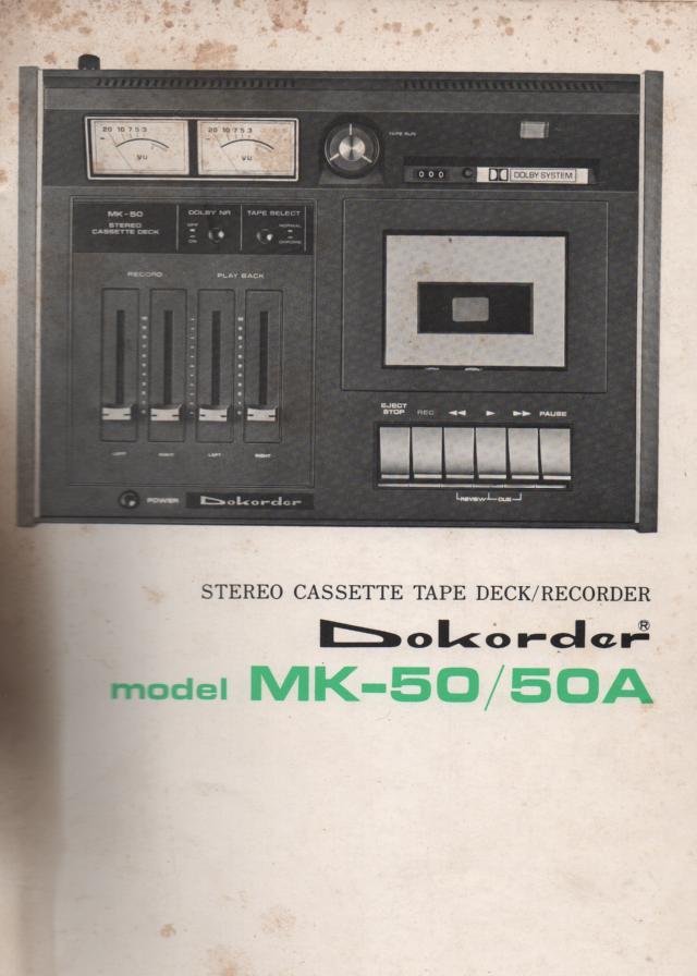 MK50 MK 50A Cassette Deck Service Manual