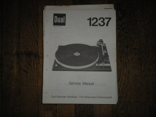 1237 Turntable Service Manual