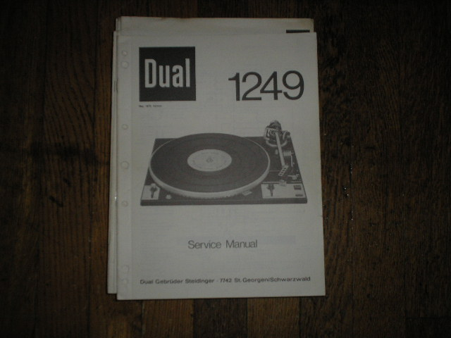1249 Turntable Service Manual