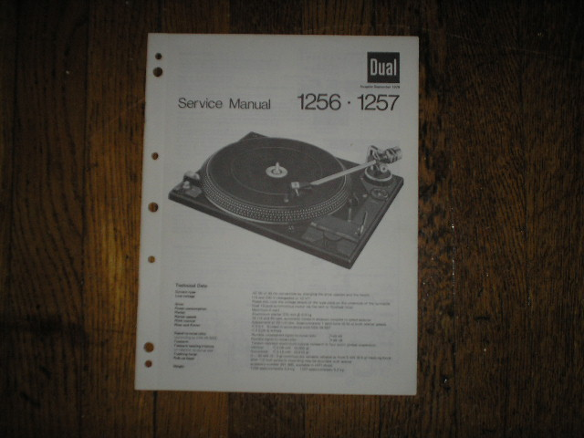 1256 1257 Turntable Service Manual